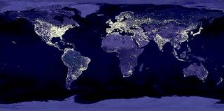 Earth looks like at night