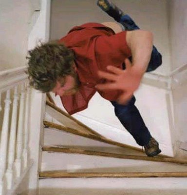 falling at stairs