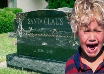 kid craying for death of santa clause