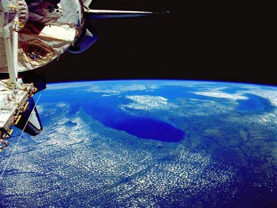 astronaut taken picture from space