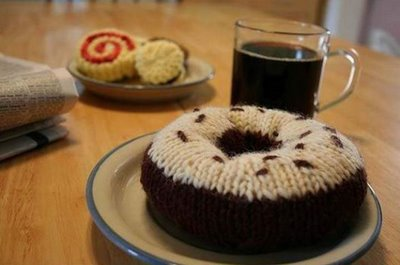 artificial food art from knitting work