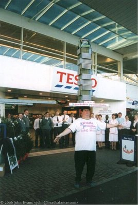 balancing performance in front of tesco