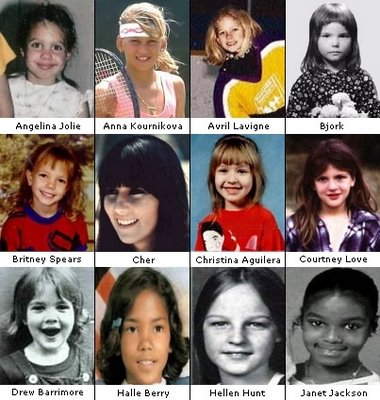Celebrities pictures as kid. They are cute