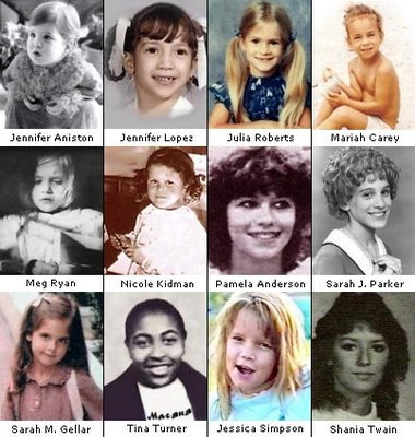 Hollywood celebrities' photos when they are kid and teenage