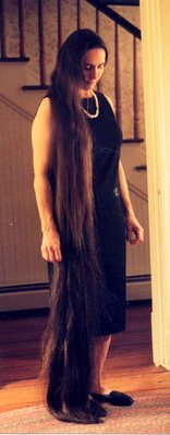 long hair woman
