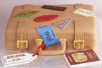 luggage for traveler cake