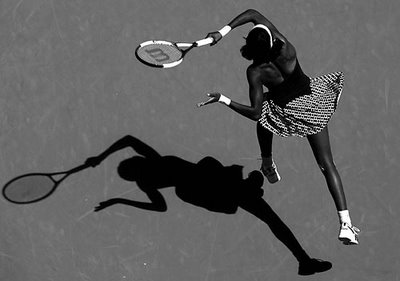 tennis player in black