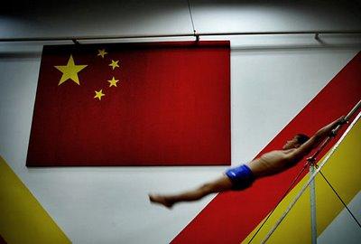 china gymnast performance