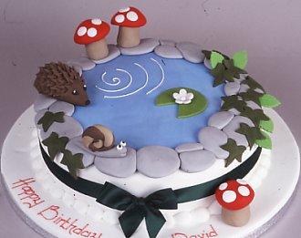 small pond cake