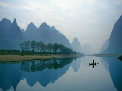 beautiful lake with reflection