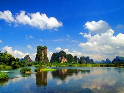 beautiful lake in China