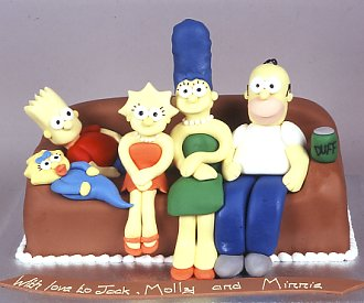 simpsons family guy cake