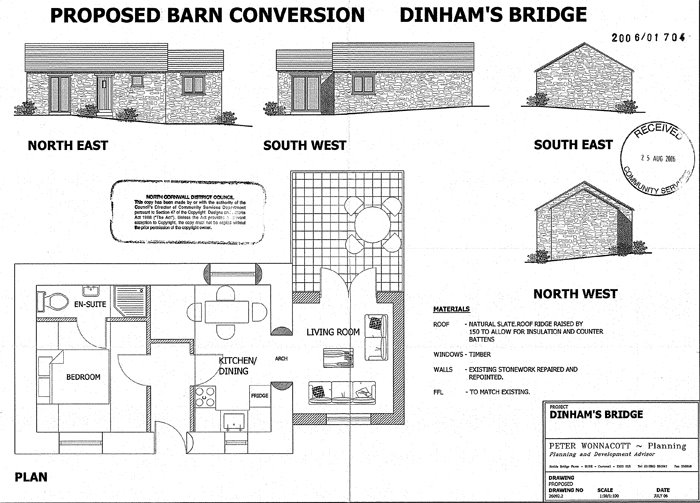 The Proposal Is Conversion Of A Small Late C19 Single Storey Stone And Slate Barn To Dwelling At Dinhams Bridge St Mabyn
