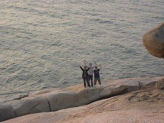 五行石下的海旁