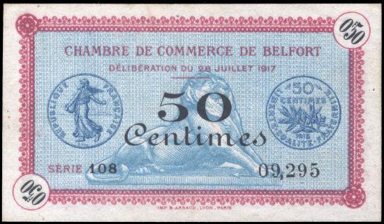 Blog philat lie billets de necessit semeuse for Chambre de commerce mulhouse