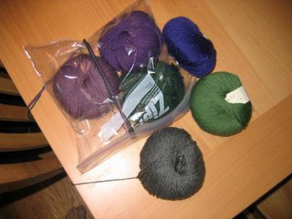 Balls of yarn for Rosemarkie