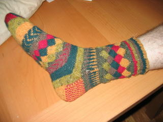 Another entrelac sock picture