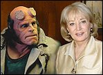 Barbara Walters with Hellboy