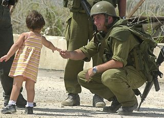 israeli soldier with girl