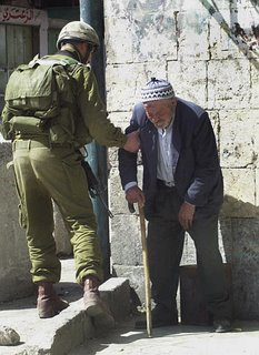 israeli soldier with old man