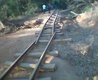 Matheran broken tracks