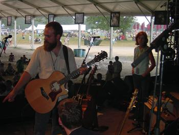 iron and wine at bonnaroo