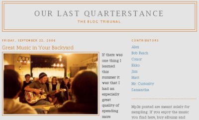 Our Last Quarterstance: The Blog Tribunal