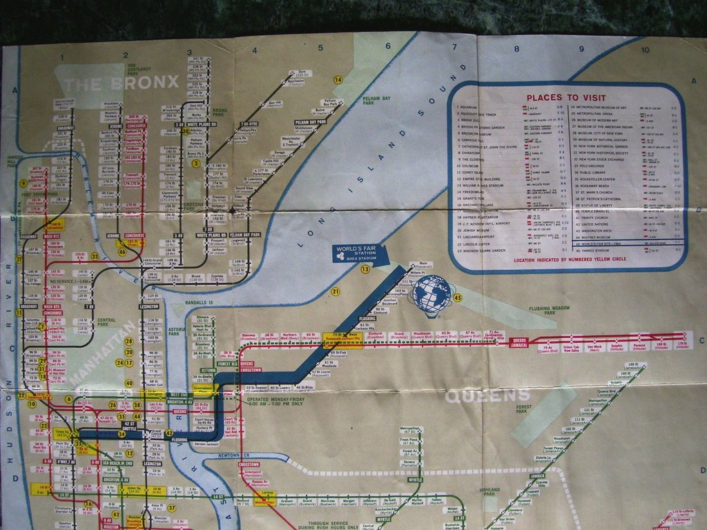 Brooklyn Ramblings 1964 World 39 s Fair Subway Map