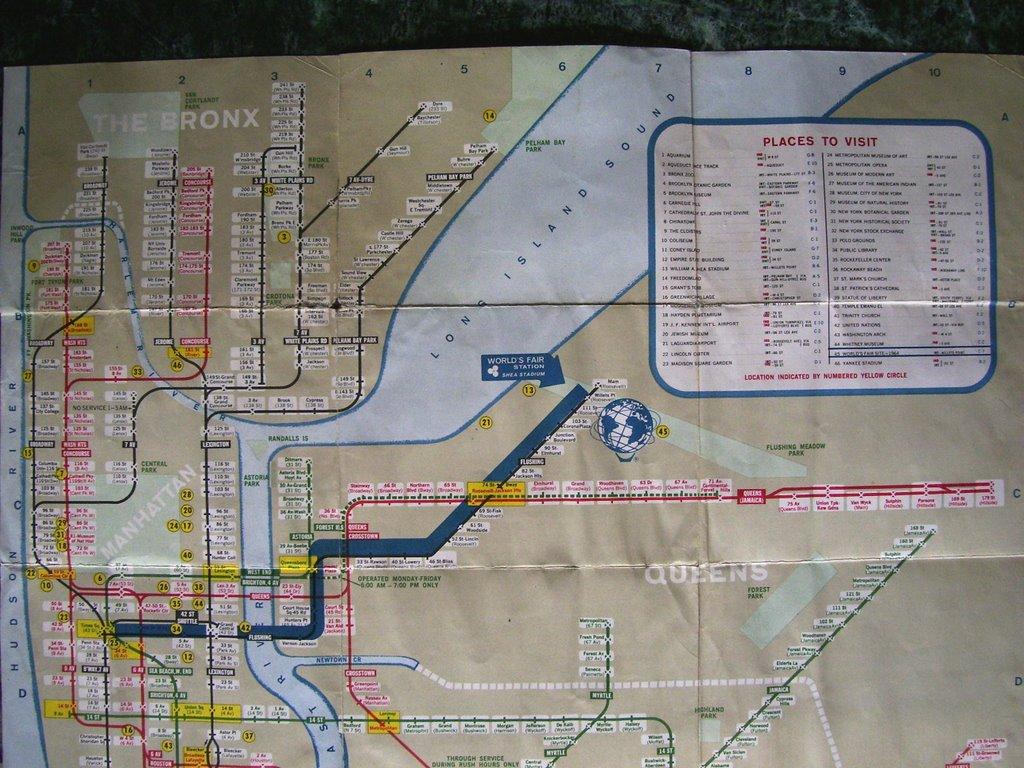 Brooklyn Ramblings: 1964 World\'s Fair Subway Map