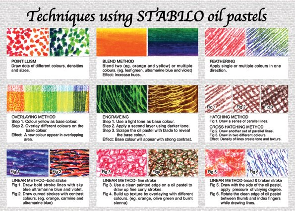 lee shee art studio leaflet of oil pastels