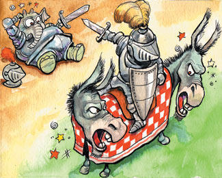 cartoon about the Democratic National Party from The Economist
