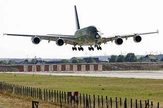 The Airbus A380 - no soft landings for this white elephant