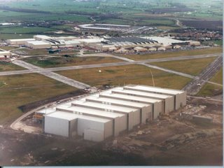 The Airbus plant in Broughton, North Wales - the A380 wing facility is in the foreground