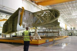 And a product made by BAE Systems - the Airbus A380 wing