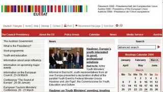 The Austrian presidency website - subject to EU rules