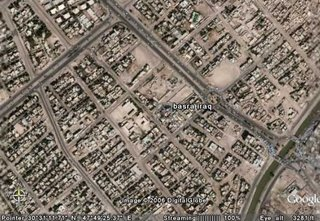 A satellite photograph of Basra - courtesy of Google Earth - Double-click to enlarge