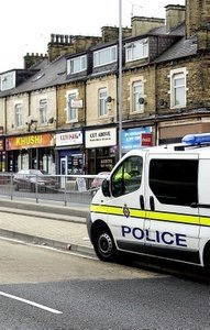 Scene of yesterday's shooting in Bradford - but did it really need the closure of a six-lane dual carriageway?