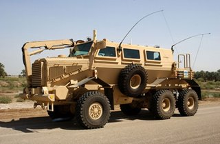 A US Buffalo - an armoured 'minesweeper' - deployed in Iraq