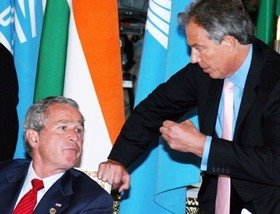 Blair acting the courtier to Bush