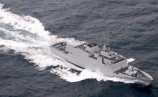 An Italian Commandante patrol vessel