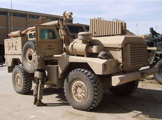 The USMC 'JERRV' Cougar vehicle used by ordnance disposal teams