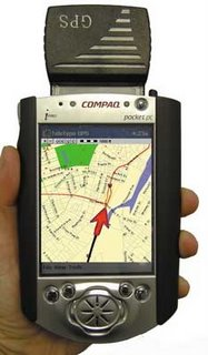 A GPS receiver - the money-making end of the system