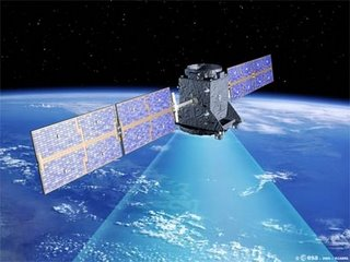 An artist's impression of one of the Galileo satellites in orbit