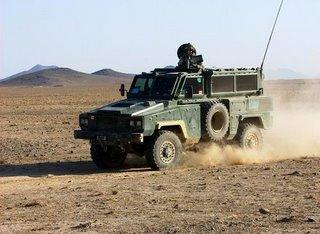A Canadian RG-31 on patrol in Afghanistan
