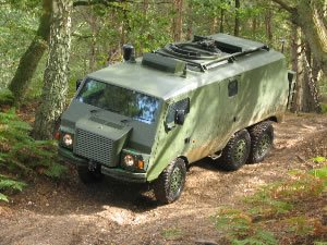 The armoured Pinzgauer - destined for Afghanistan