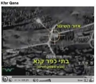 IDF video footage showing Katyusha rockets being fired from Qana