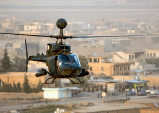 The Kiowa light tactical helicopter