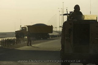 A Land Rover patrol in Basra