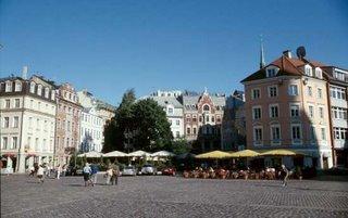 Town scene in Riga