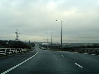 The M606 Northbound in Bradford - the camera is on the Southbound carriageway